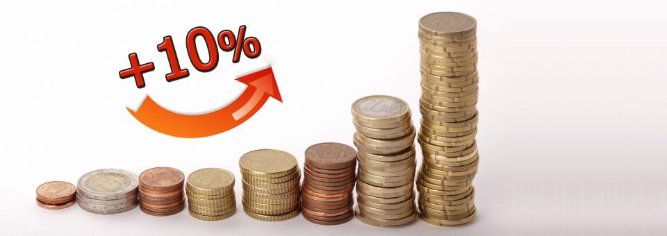 Aumenta subito il tuo potere d'acquisto del 10%